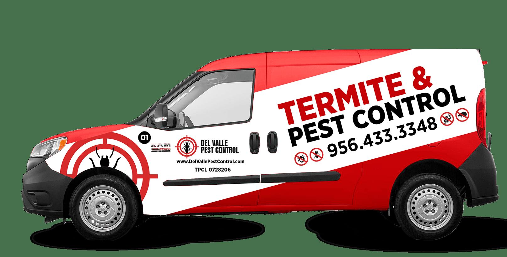 DelValle Pest Control van